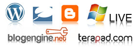 We support wordpress, typepad, blogger, live blogs, blogengine.net and terapad blogs!
